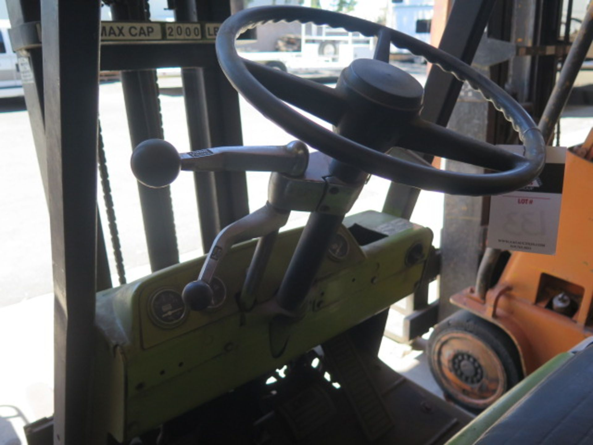 """Clark 2000 Lb Cap LPG Forklift w/ 2-Stage 130"""" Lift Height, (Condition Unknown), SOLD AS IS - Image 10 of 12"""