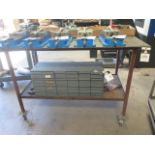 Rolling Steel Table (SOLD AS-IS - NO WARRANTY)