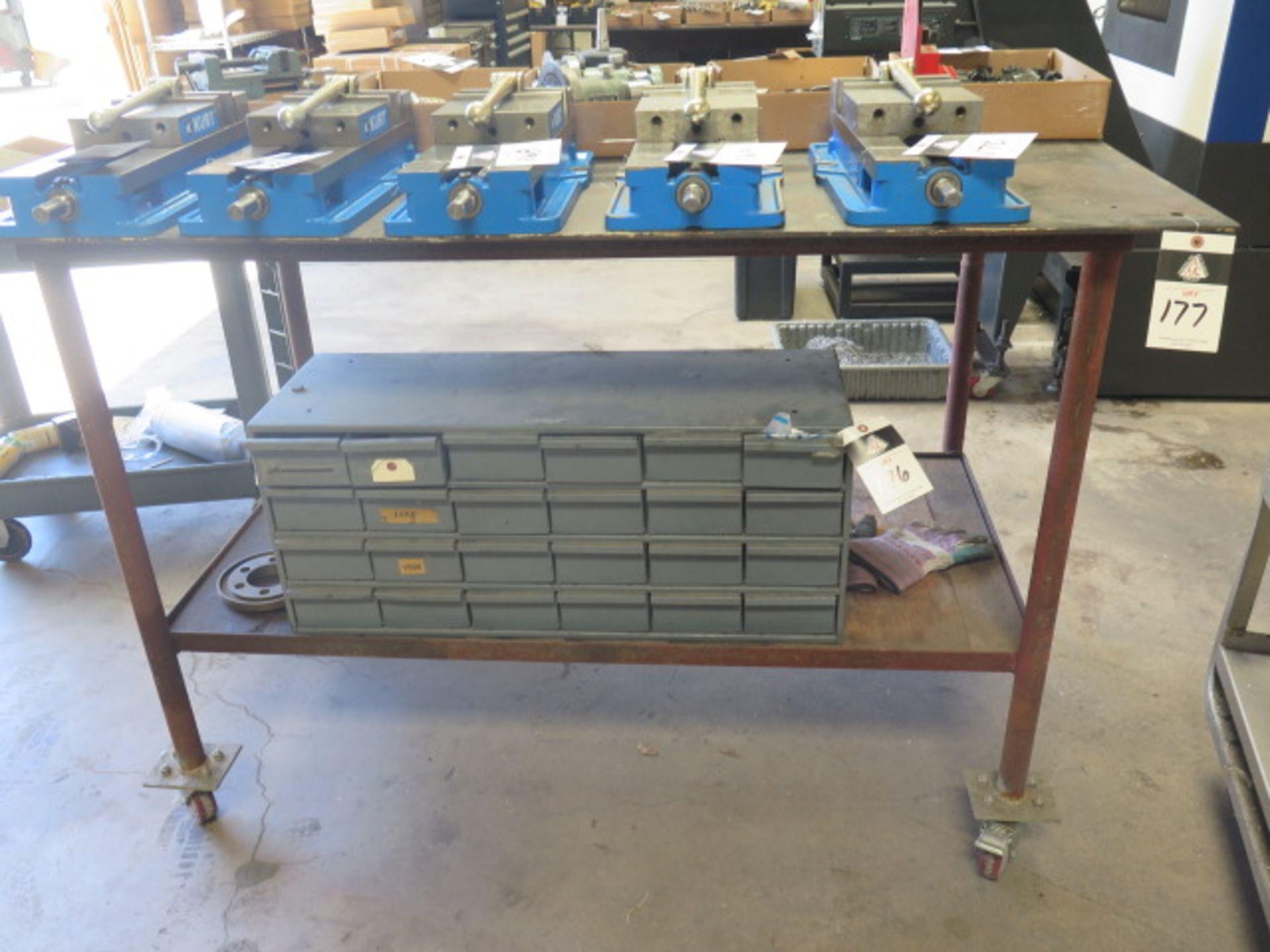 Rolling Steel Table (SOLD AS-IS - NO WARRANTY)