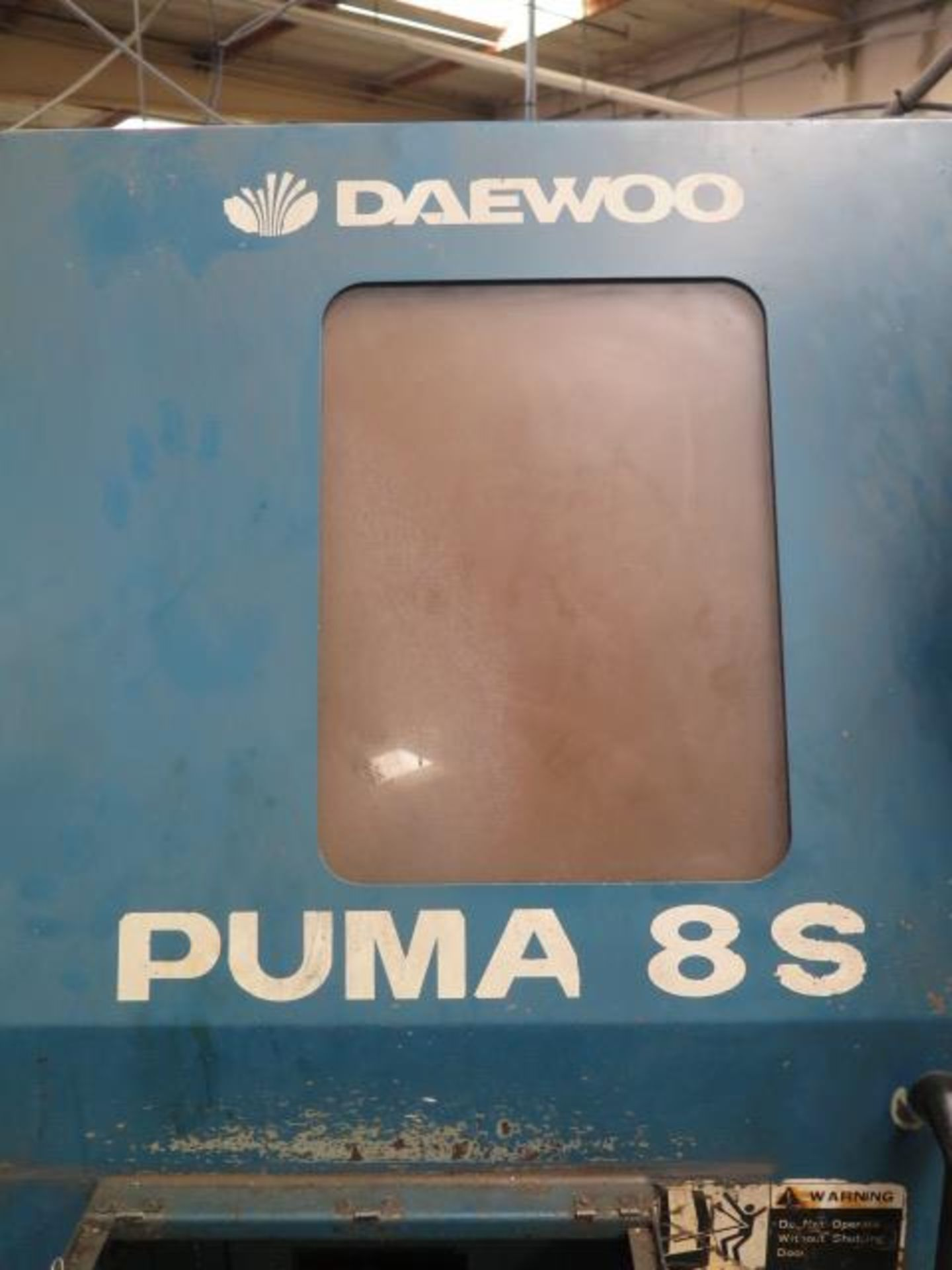 1996 Daewoo PUMA 8S CNC Turning Center s/n PM8S0500 w/ Mits Controls, Tool Presetter, SOLD AS IS - Image 3 of 14