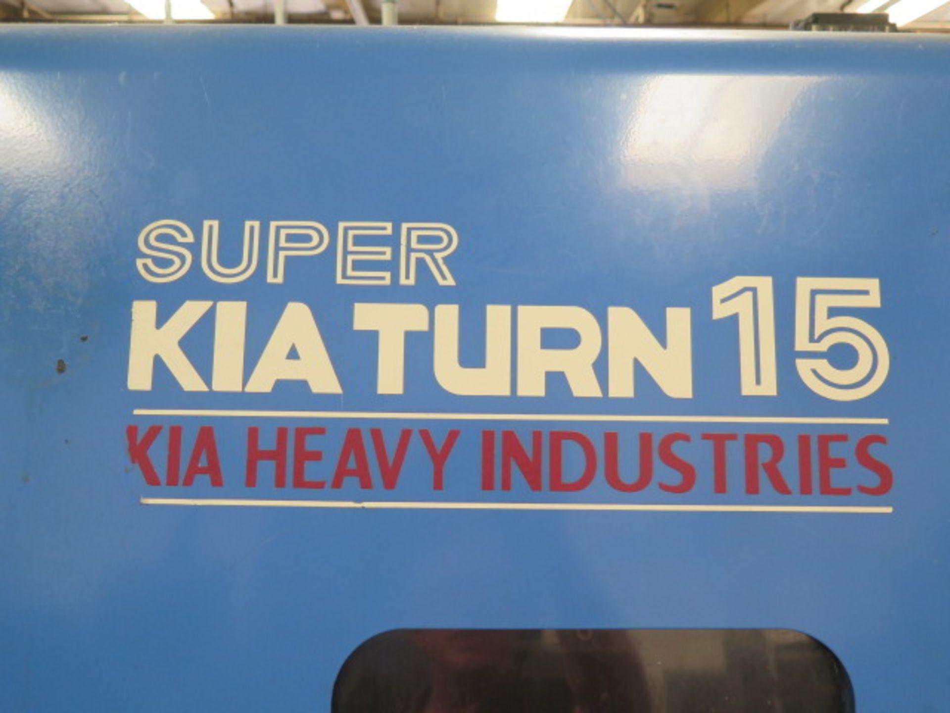 2004 Kia Super KIA Turn 15 CNC Turning Center s/n SKT150905 w/ Fanuc Series 0i-TB Contrs, SOLD AS IS - Image 4 of 16