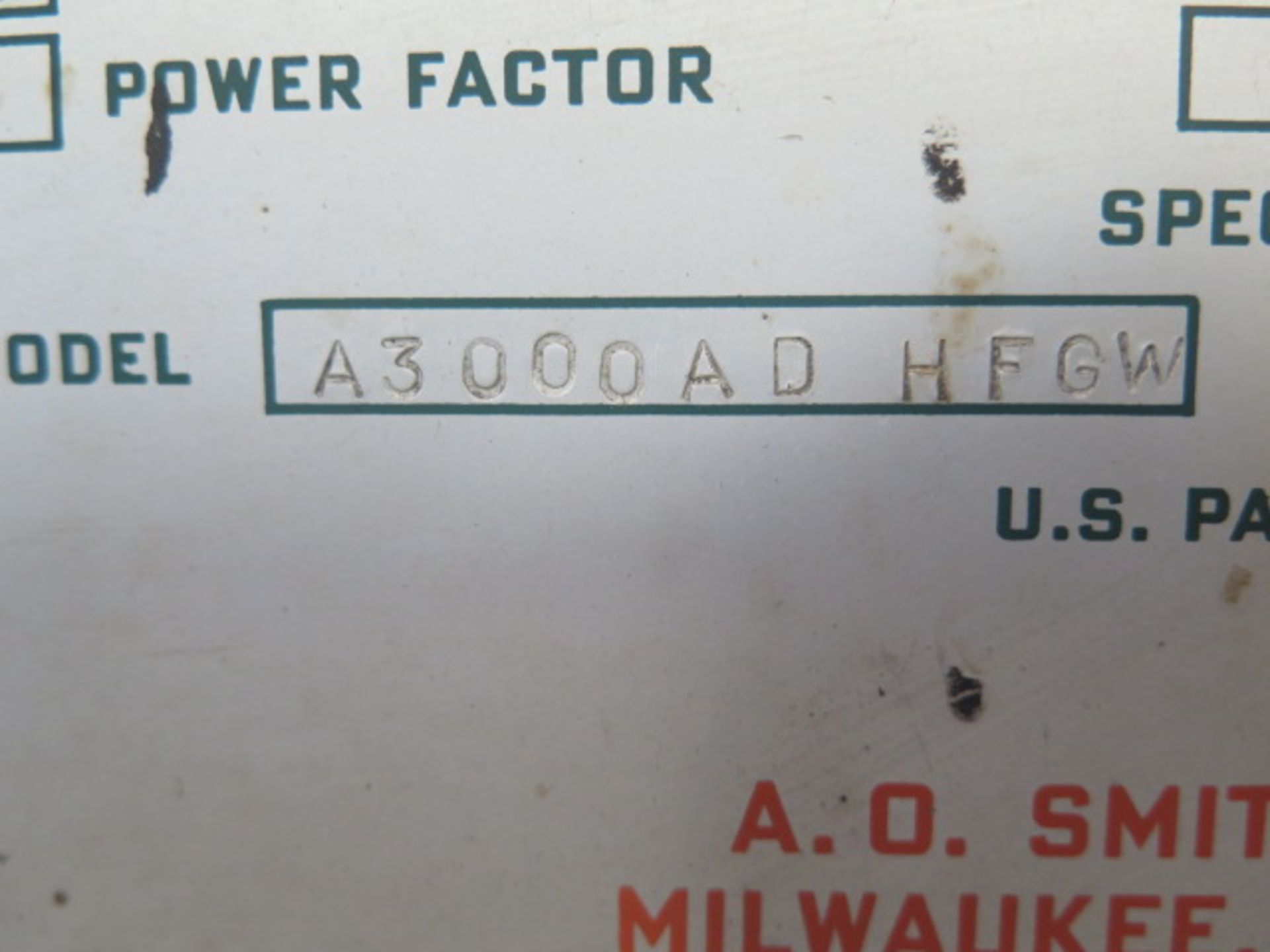 AO Smith A3000AD AFGW AC/DC Arc Welding Power Source s/n 1453-6043-8 (SOLD AS-IS - NO WARRANTY) - Image 7 of 8