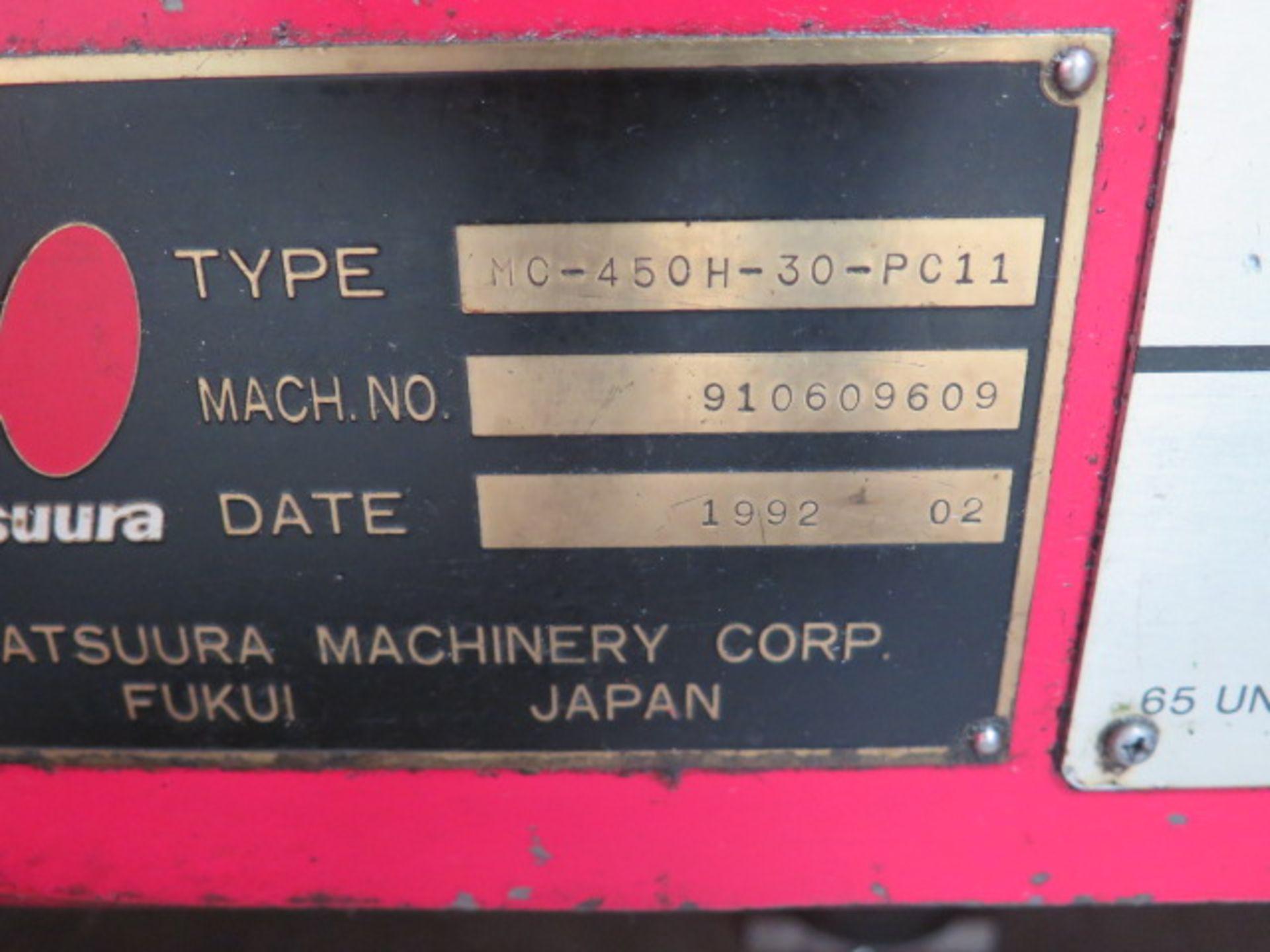 1992 Matsuura MC-450H-30-PC II 10-Pallet CNC Horizontal Machining Center s/n 910609609, SOLD AS IS - Image 23 of 23