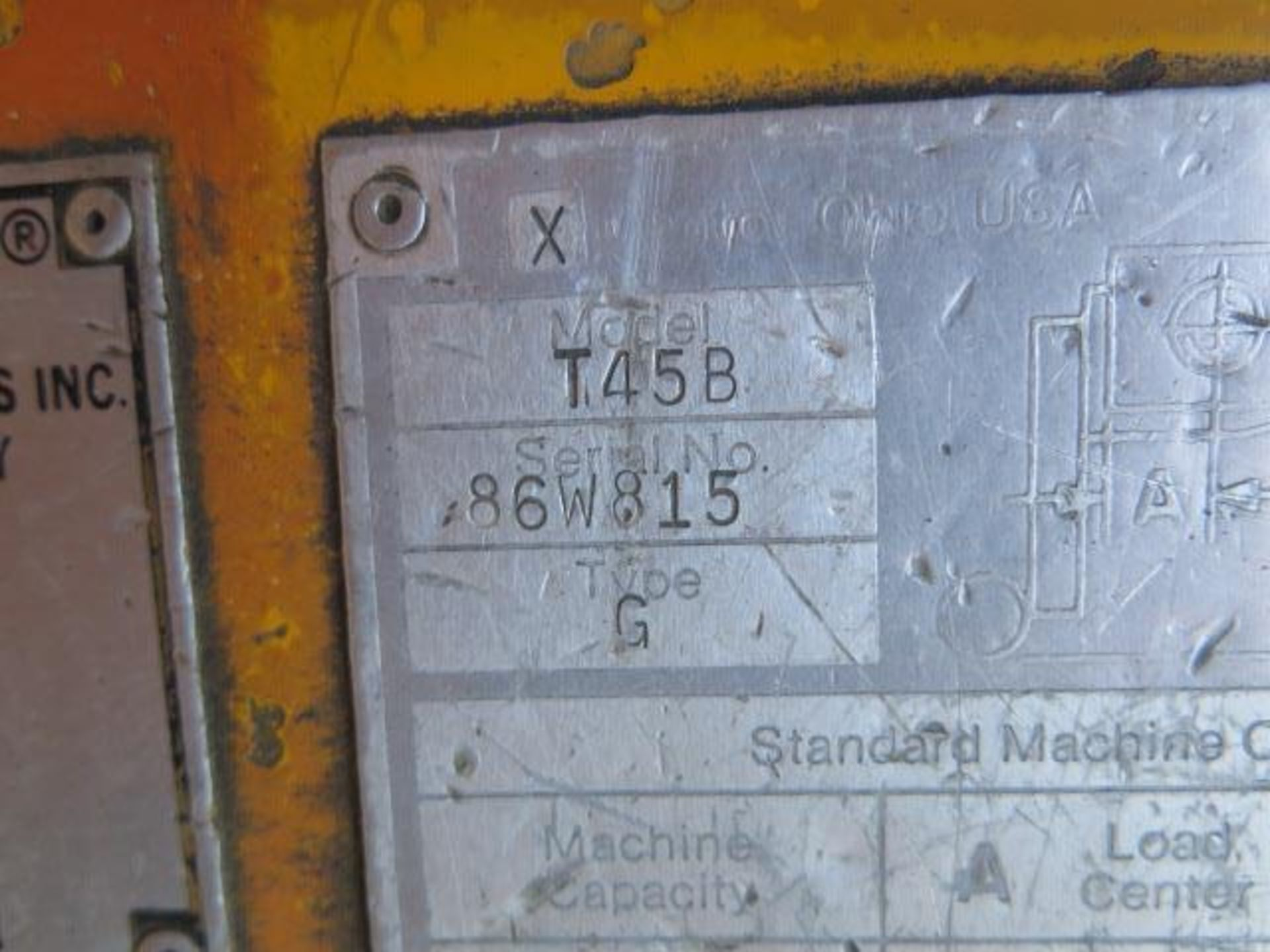 Caterpillar 4500 Lb Cap LPG Forklift s/n F235-83-2201172 (Condition Unknown) SOLD AS-IS - Image 12 of 13