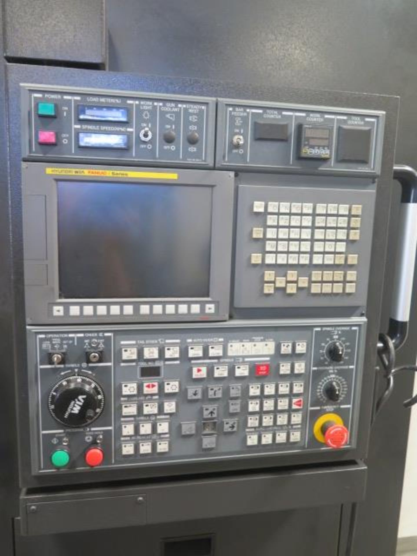 2016 Hyundai WIA L300LA CNC Turning Center s/n G3726-0083 w/ Fanuc i-Series Controls, SOLD AS IS - Image 4 of 20