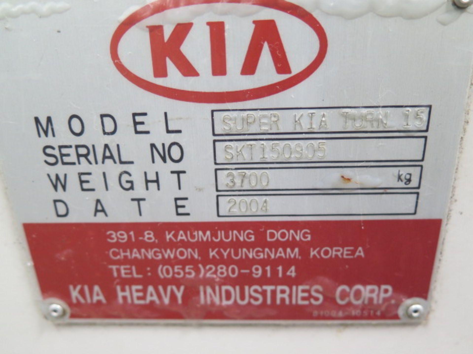 2004 Kia Super KIA Turn 15 CNC Turning Center s/n SKT150905 w/ Fanuc Series 0i-TB Contrs, SOLD AS IS - Image 16 of 16