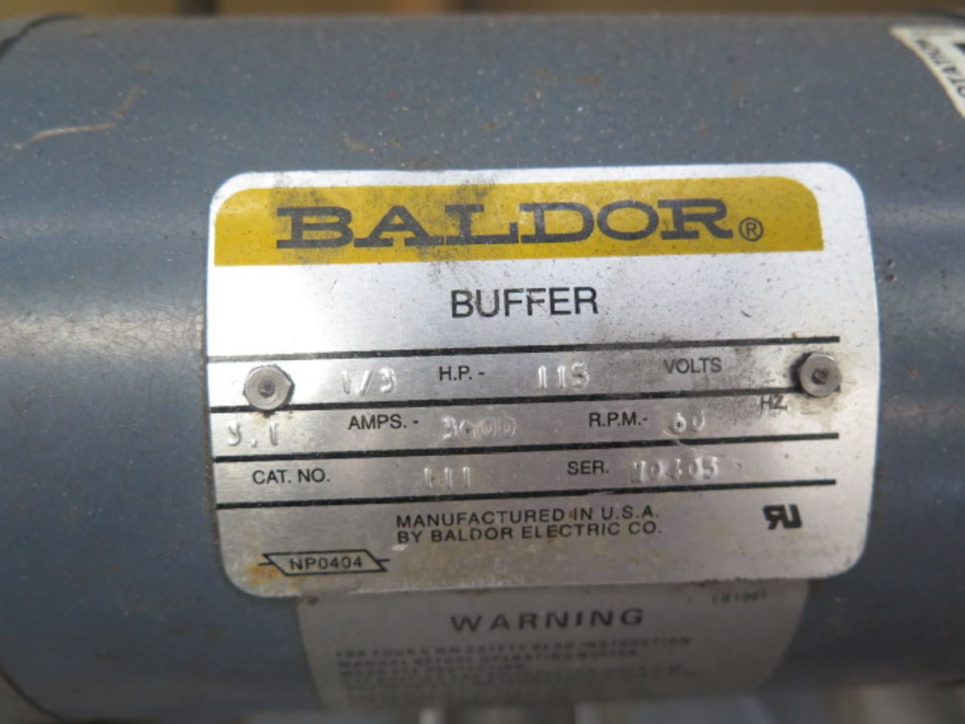 Baldor Bench Buffer (SOLD AS-IS - NO WARRANTY) - Image 2 of 4