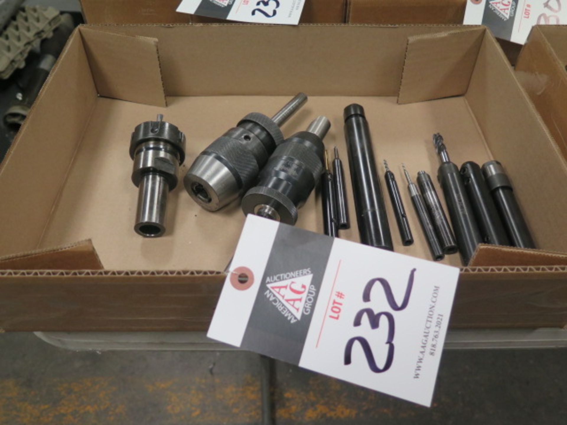 Drill Chucks (2) and Extensions (SOLD AS-IS - NO WARRANTY)