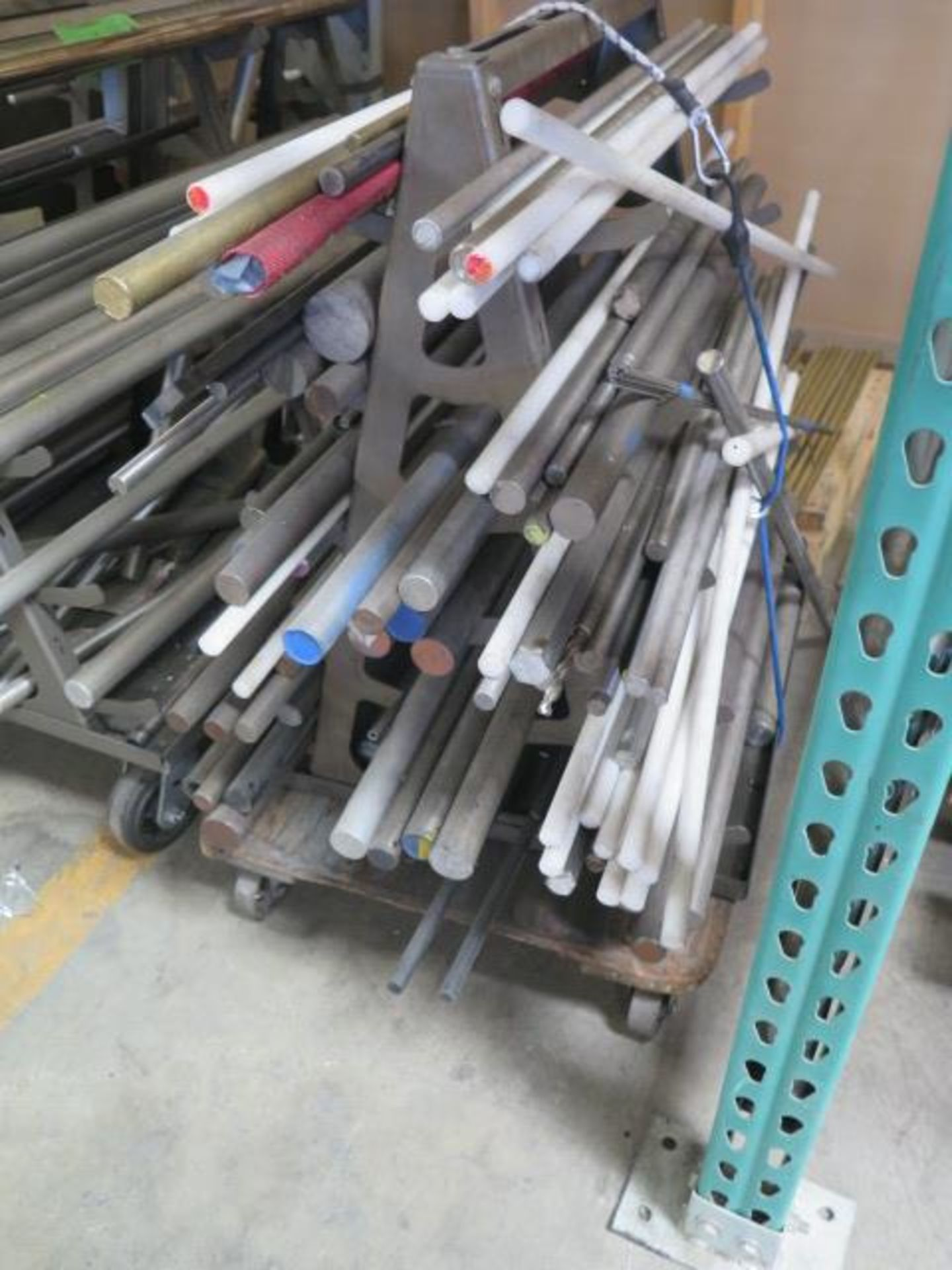 Misc Raw Materials w/ Rolling A-Frame Racks (SOLD AS-IS - NO WARRANTY) - Image 2 of 4