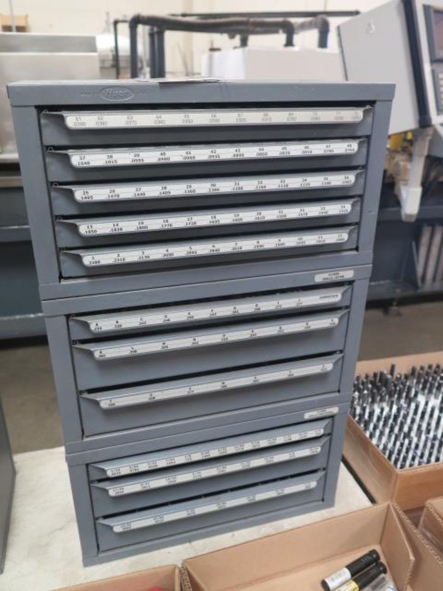 Huot Drill Cabinets (3) w/ Drills (SOLD AS-IS - NO WARRANTY)