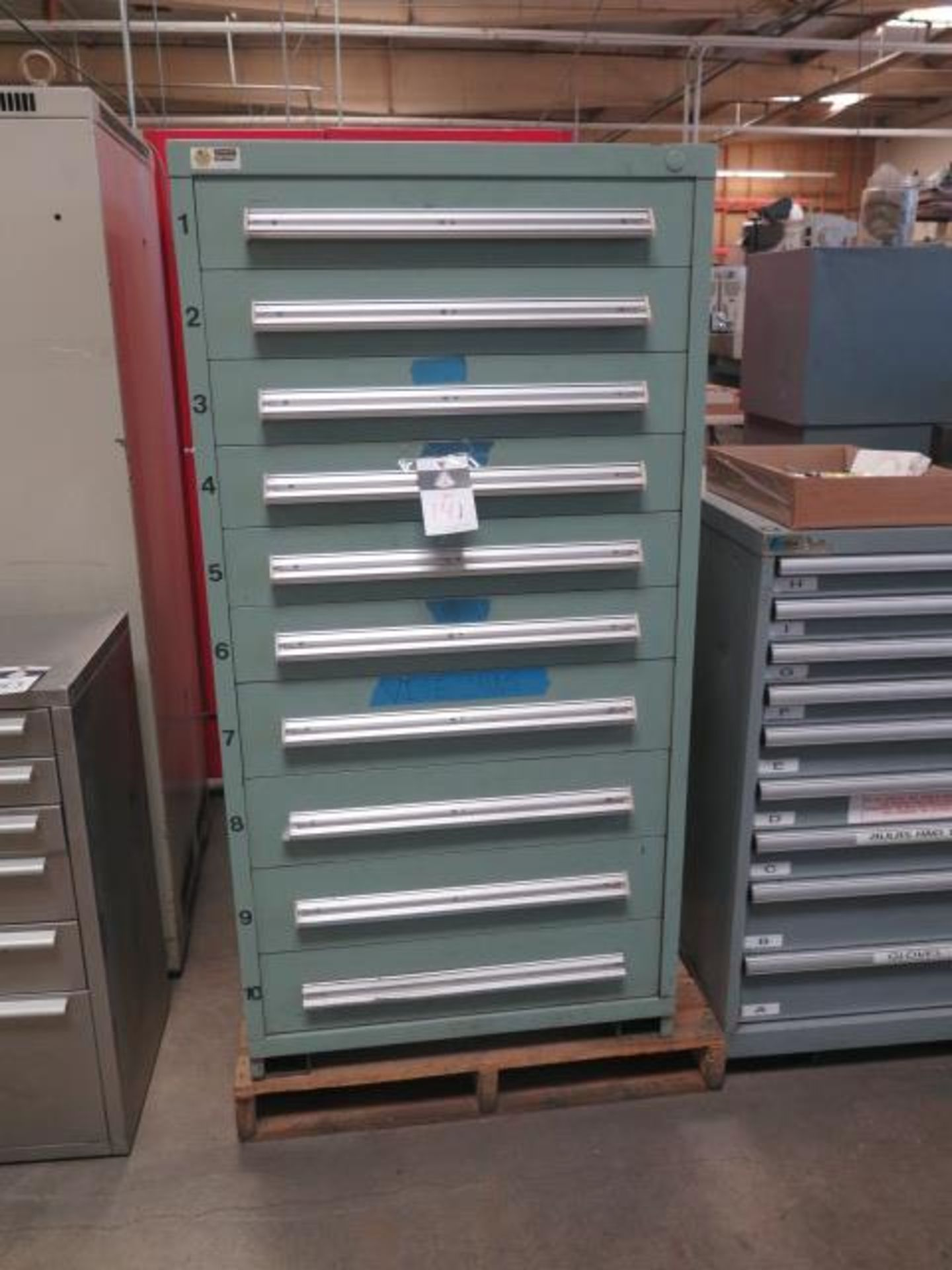 Vidmar 10-Drawer Tooling Cabinet w/ Vise Jaws (SOLD AS-IS - NO WARRANTY)