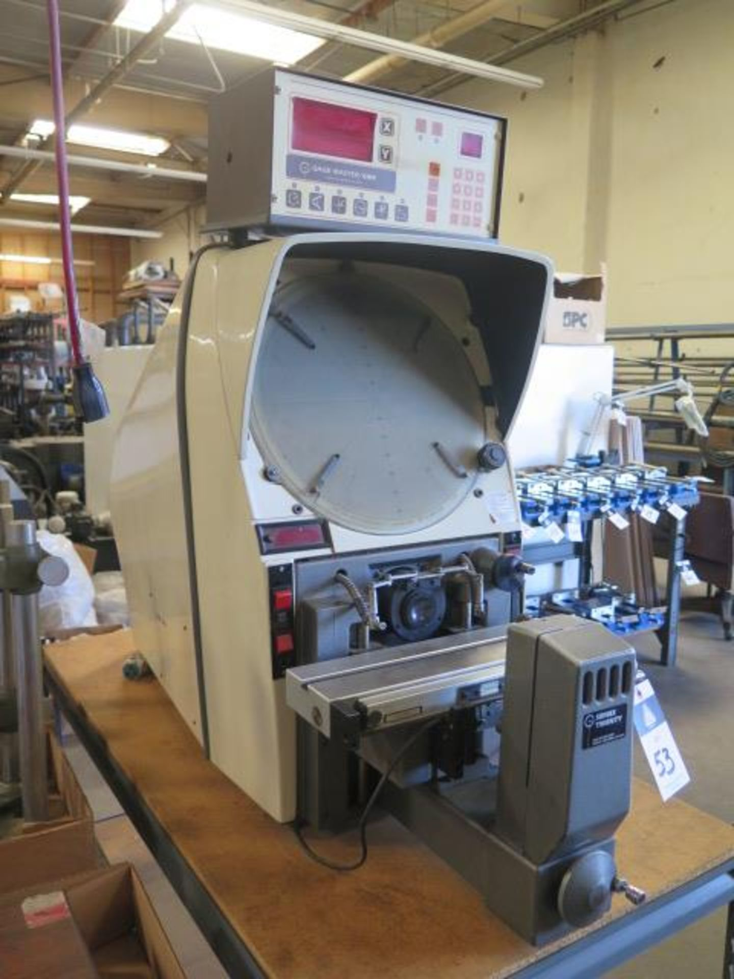 """Gage Master Series 20 13"""" Optical Comparator w/ Gage Master GM4 DRO, Dig Angular Readout, SOLD AS IS - Image 2 of 10"""