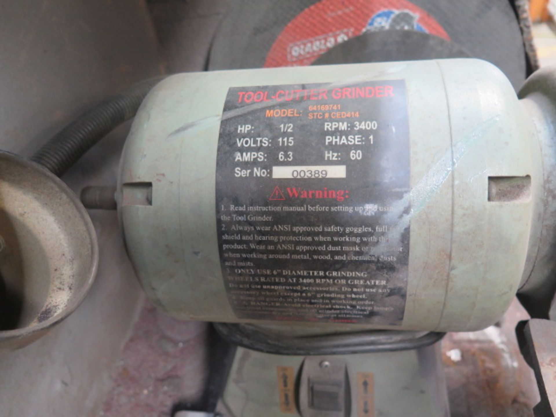 Import Carbide Tool Grinder (NEEDS REPAIR) (SOLD AS-IS - NO WARRANTY) - Image 2 of 6
