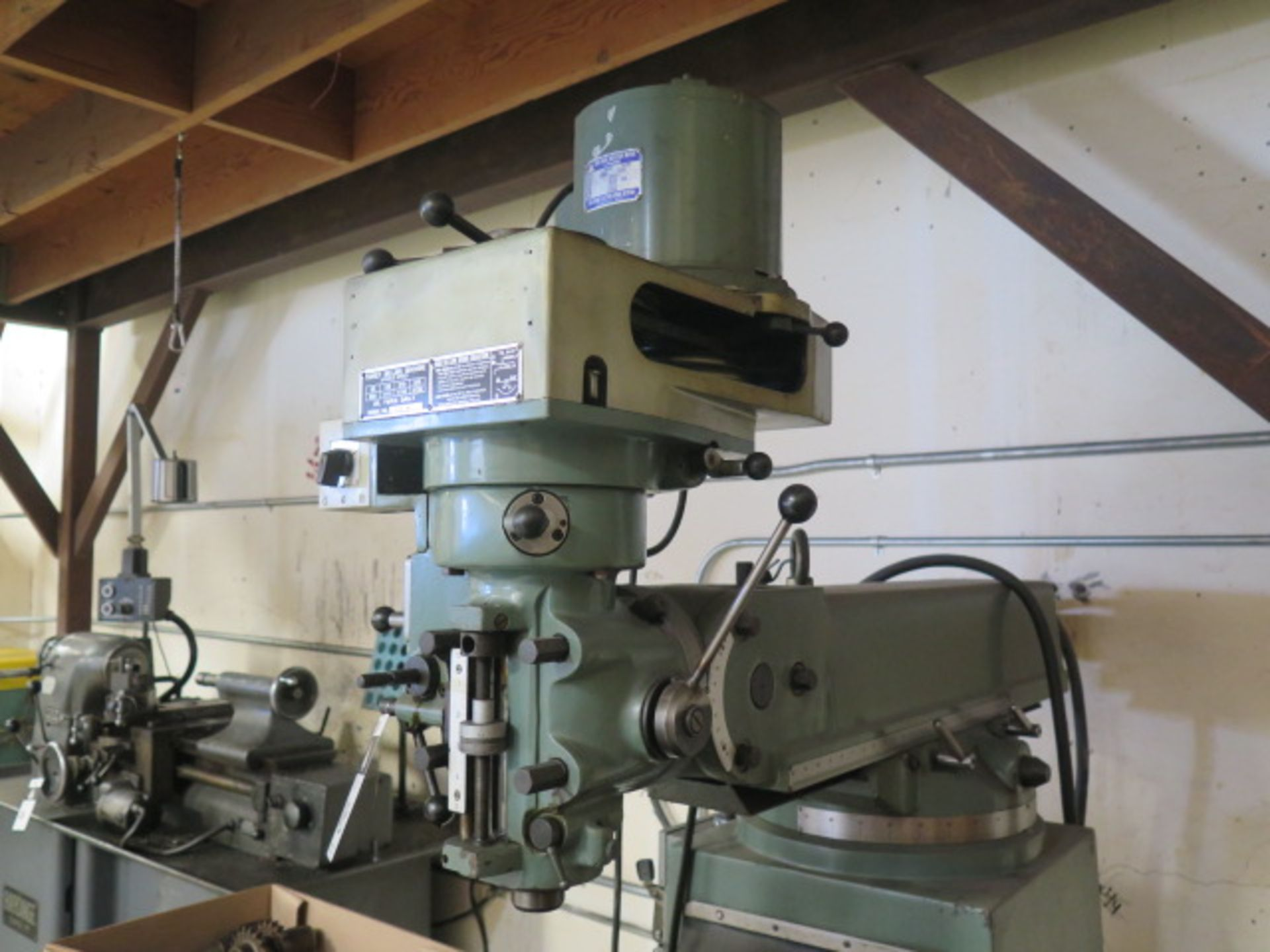 """Import Vertical Mill w/ 3Hp Motor, 80-2720 RPM, 8-Speeds, R8 Spindle, 10"""" x 48"""" Table (SOLD AS- - Image 3 of 9"""