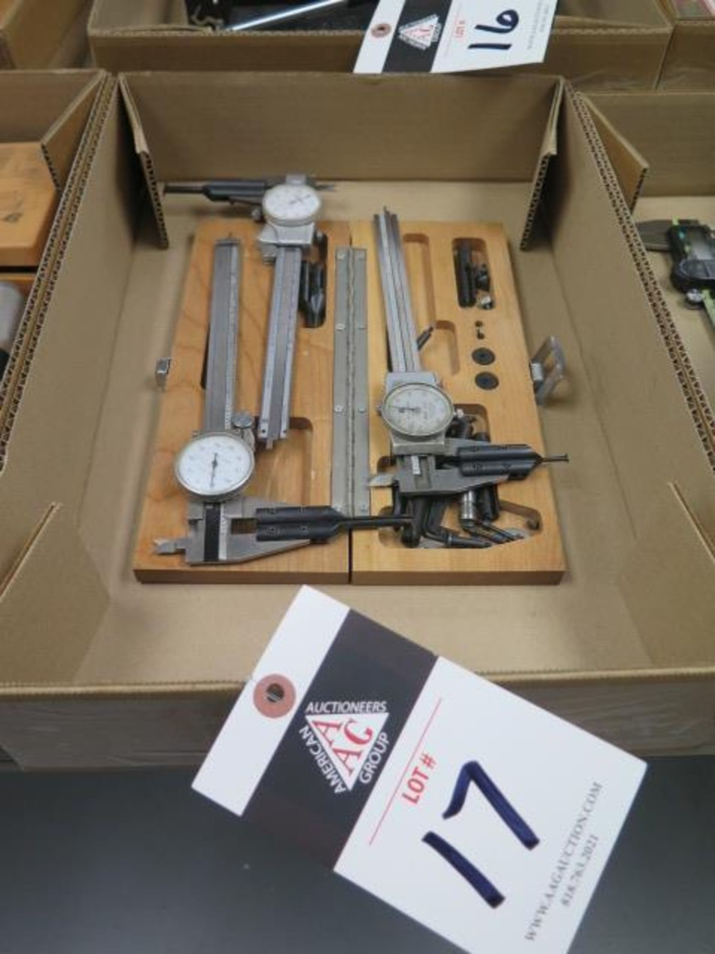 """6""""' Dial Calipers (3) w/ Accessory Blade Sets (SOLD AS-IS - NO WARRANTY)"""