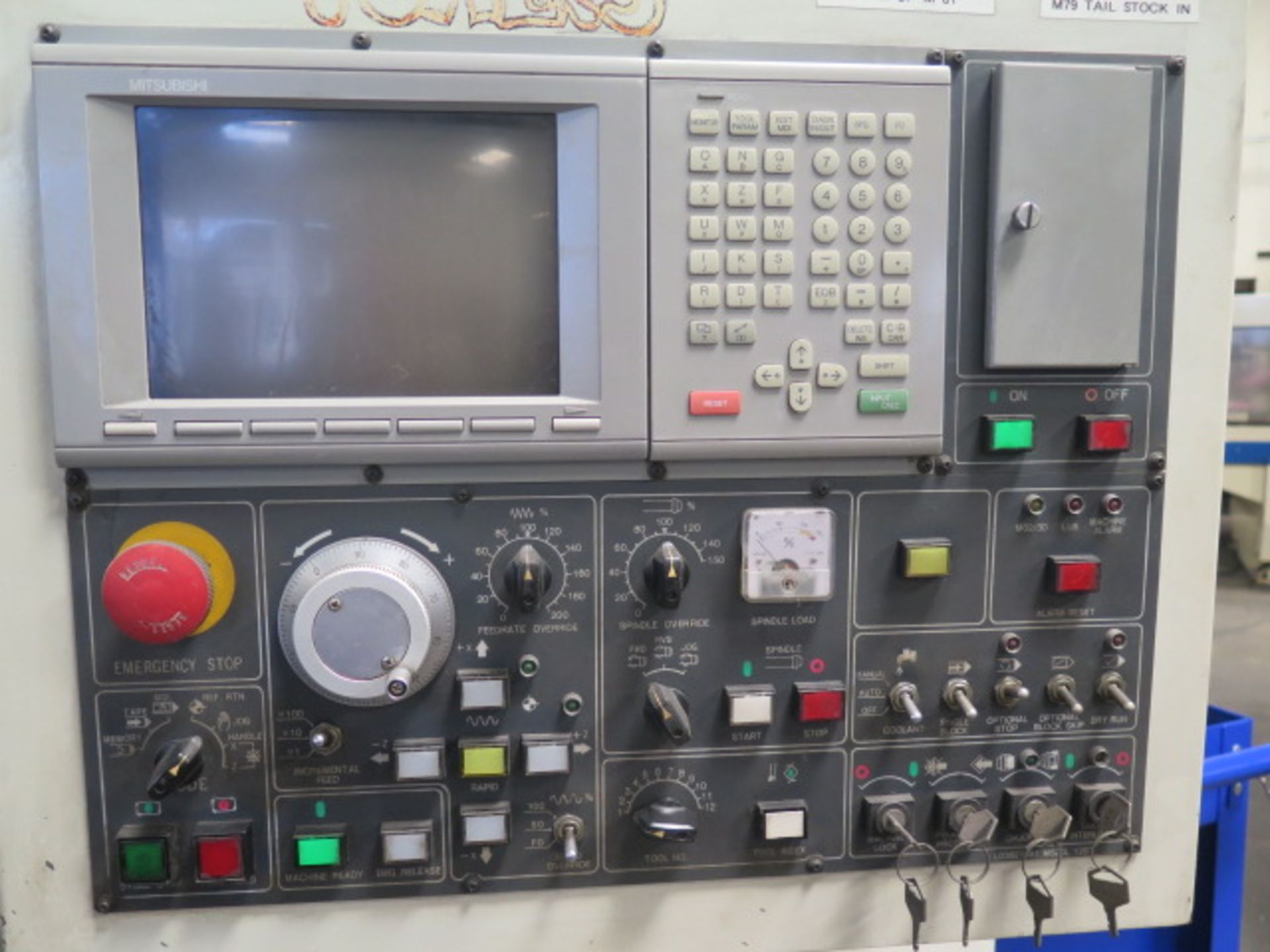 1996 Daewoo PUMA 8S CNC Turning Center s/n PM8S0500 w/ Mits Controls, Tool Presetter, SOLD AS IS - Image 4 of 14