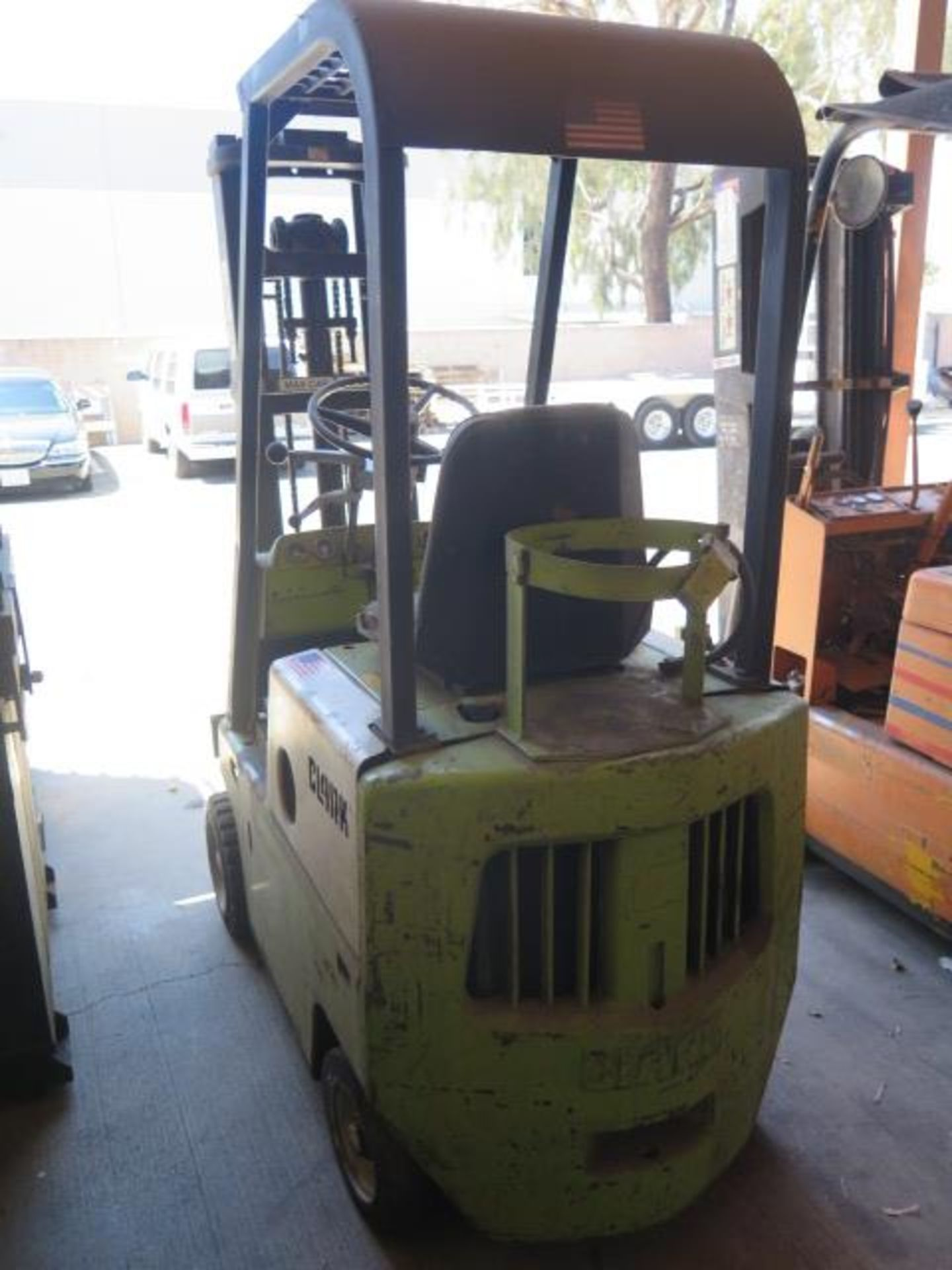 """Clark 2000 Lb Cap LPG Forklift w/ 2-Stage 130"""" Lift Height, (Condition Unknown), SOLD AS IS - Image 3 of 12"""