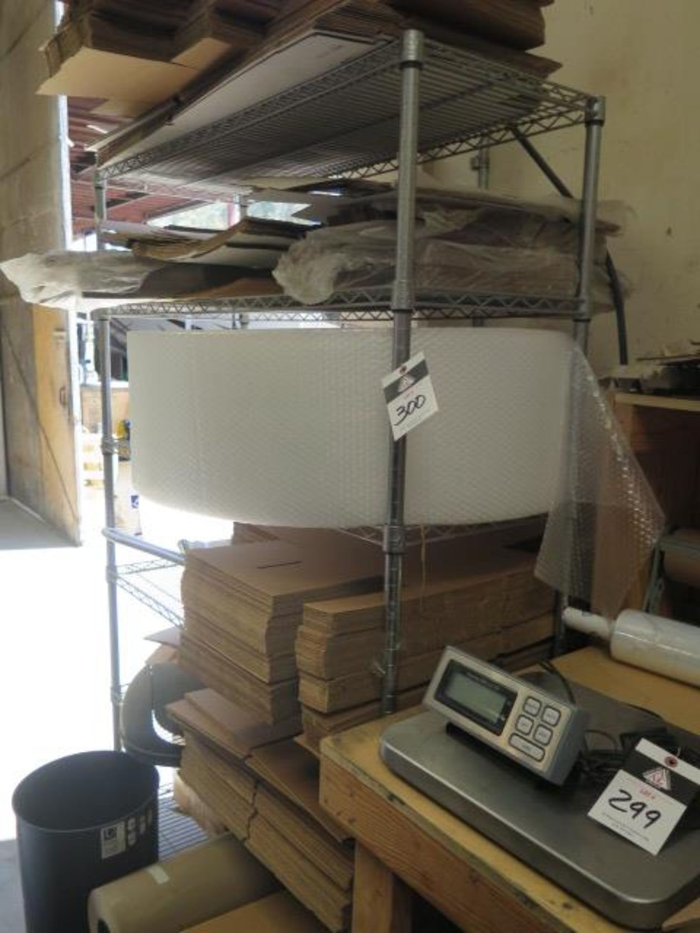 Shipping Supplies and Table (SOLD AS-IS - NO WARRANTY)