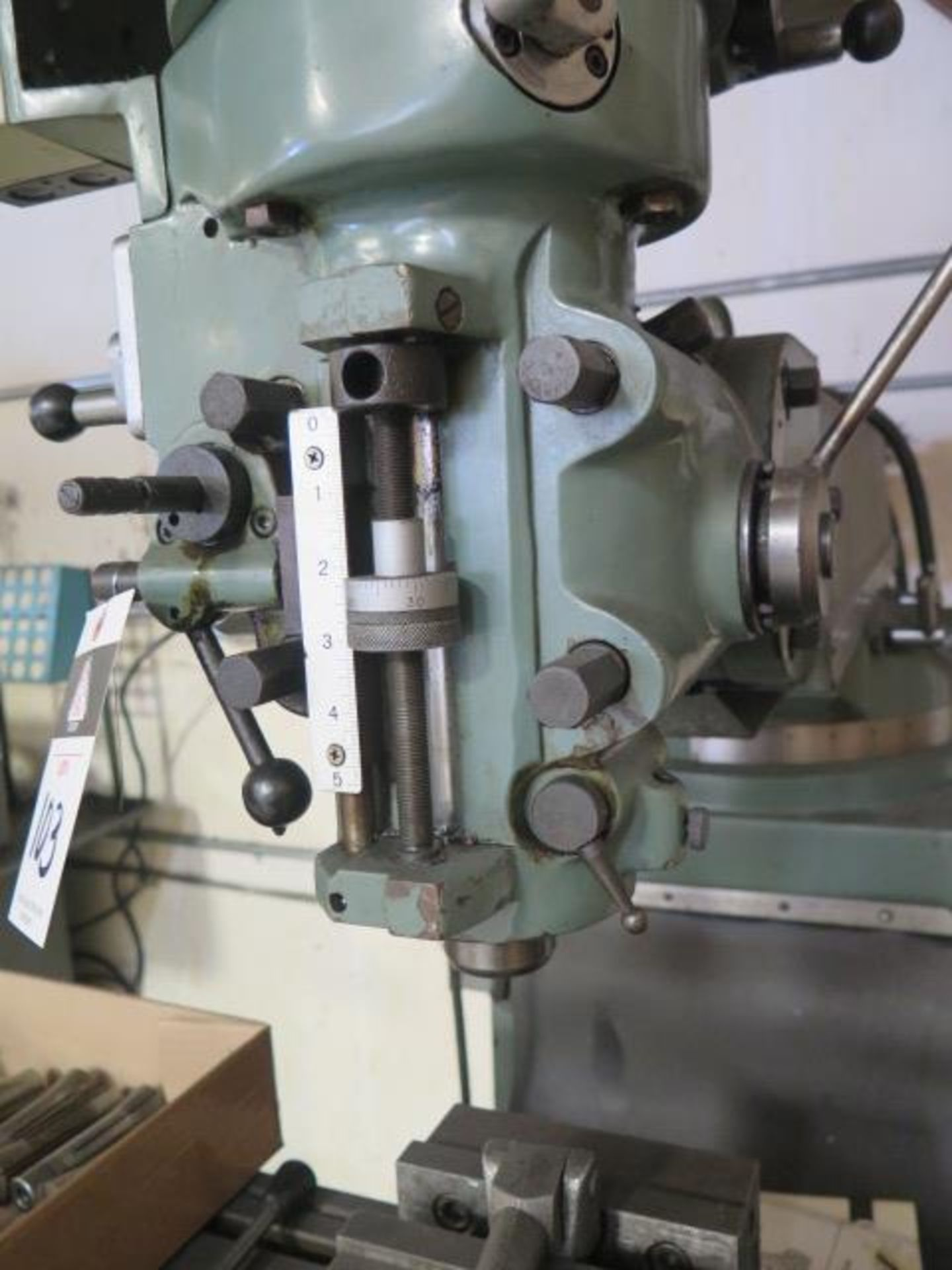 """Import Vertical Mill w/ 3Hp Motor, 80-2720 RPM, 8-Speeds, R8 Spindle, 10"""" x 48"""" Table (SOLD AS- - Image 6 of 9"""