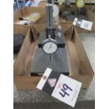 """6"""" x 6"""" Granite Indicator Stands (2) w/ Dial Indicators (SOLD AS-IS - NO WARRANTY)"""