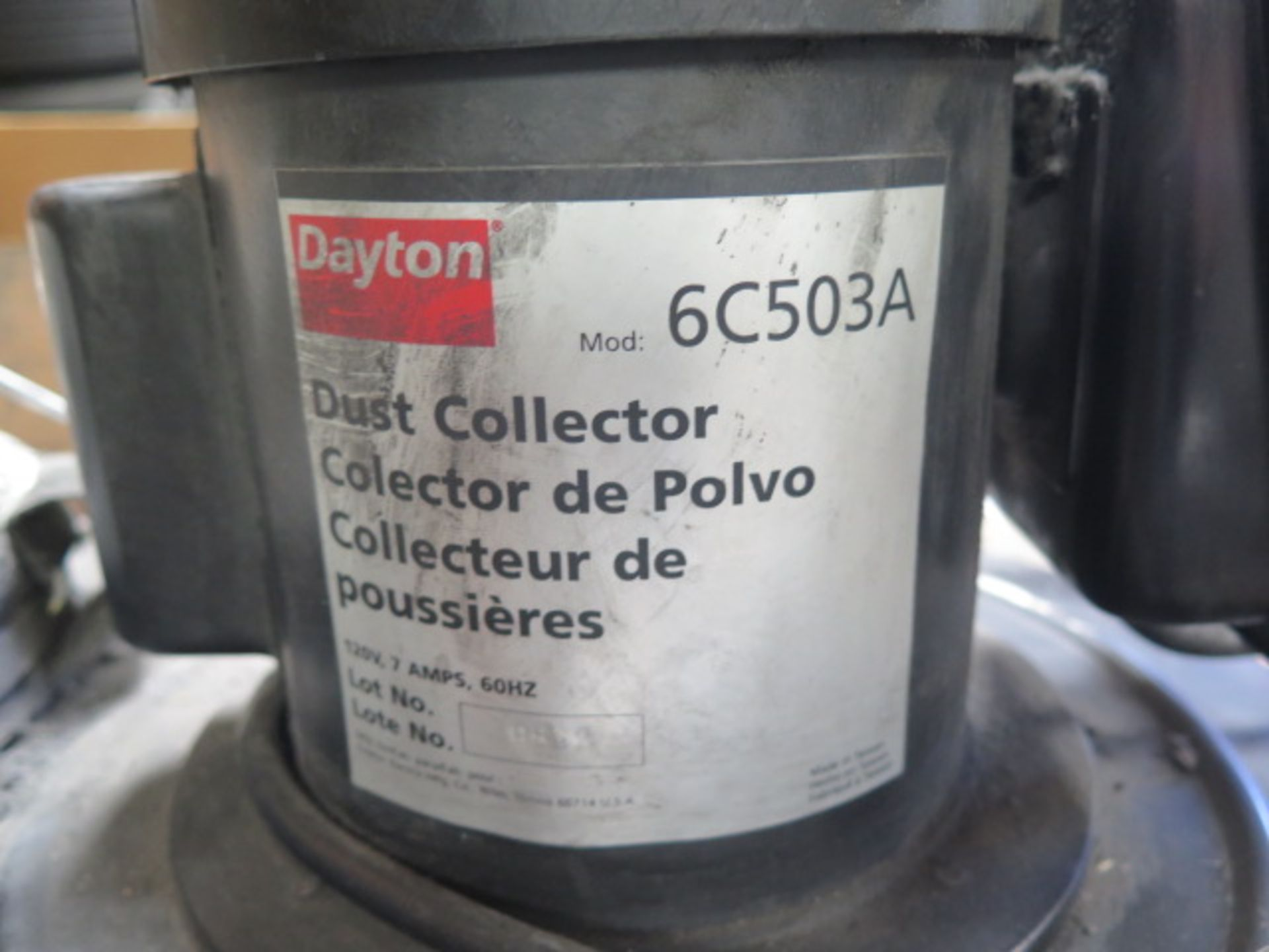 Dayton Dust Collector (SOLD AS-IS - NO WARRANTY) - Image 3 of 5
