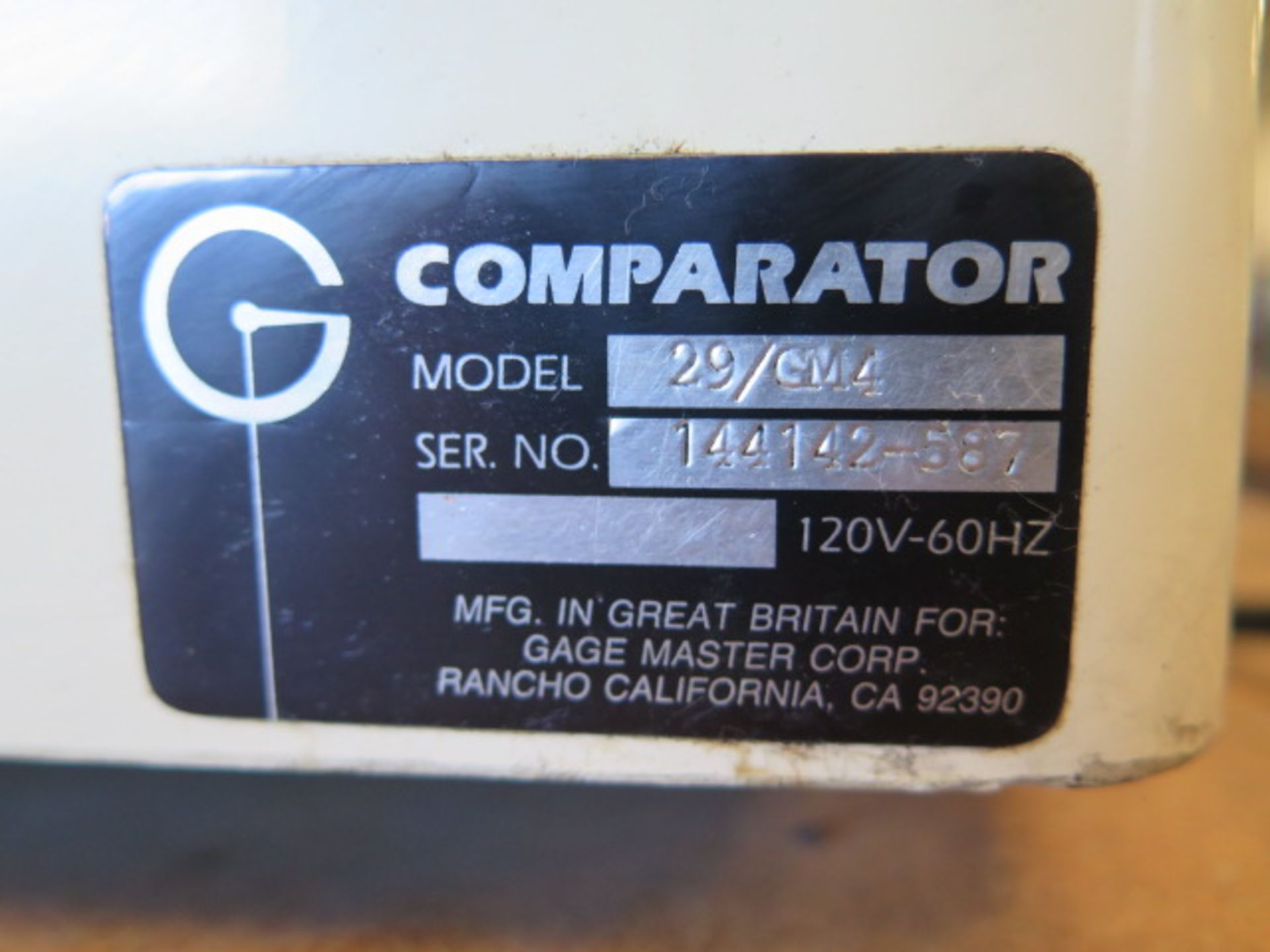 """Gage Master Series 20 13"""" Optical Comparator w/ Gage Master GM4 DRO, Dig Angular Readout, SOLD AS IS - Image 10 of 10"""