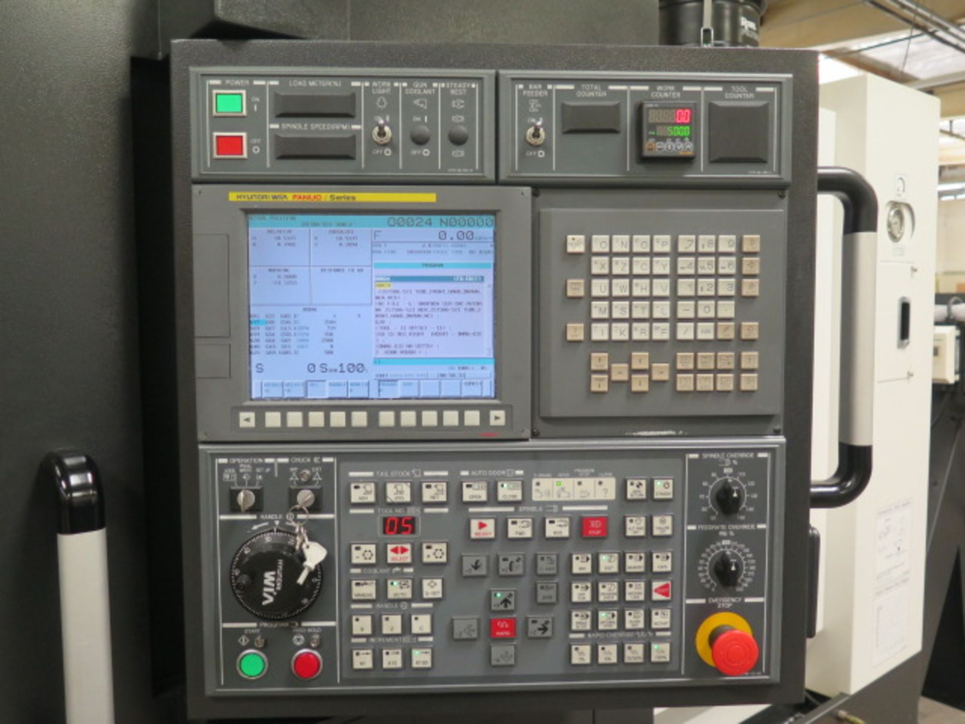 2017 Hyundai WIA L300LA CNC Turning Center s/n G3726-0108 w/ Fanuc i-Series Controls, SOLD AS IS - Image 4 of 18