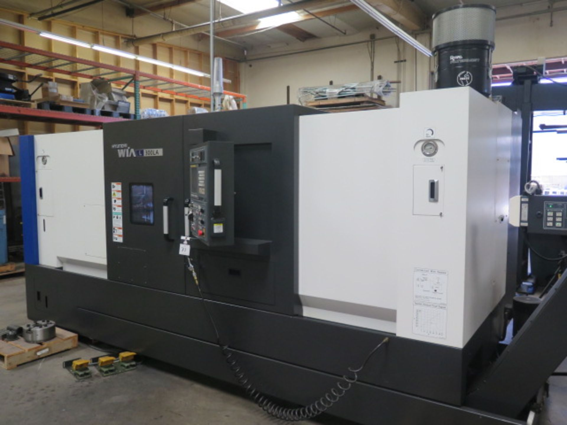 2017 Hyundai WIA L300LA CNC Turning Center s/n G3726-0108 w/ Fanuc i-Series Controls, SOLD AS IS - Image 2 of 18