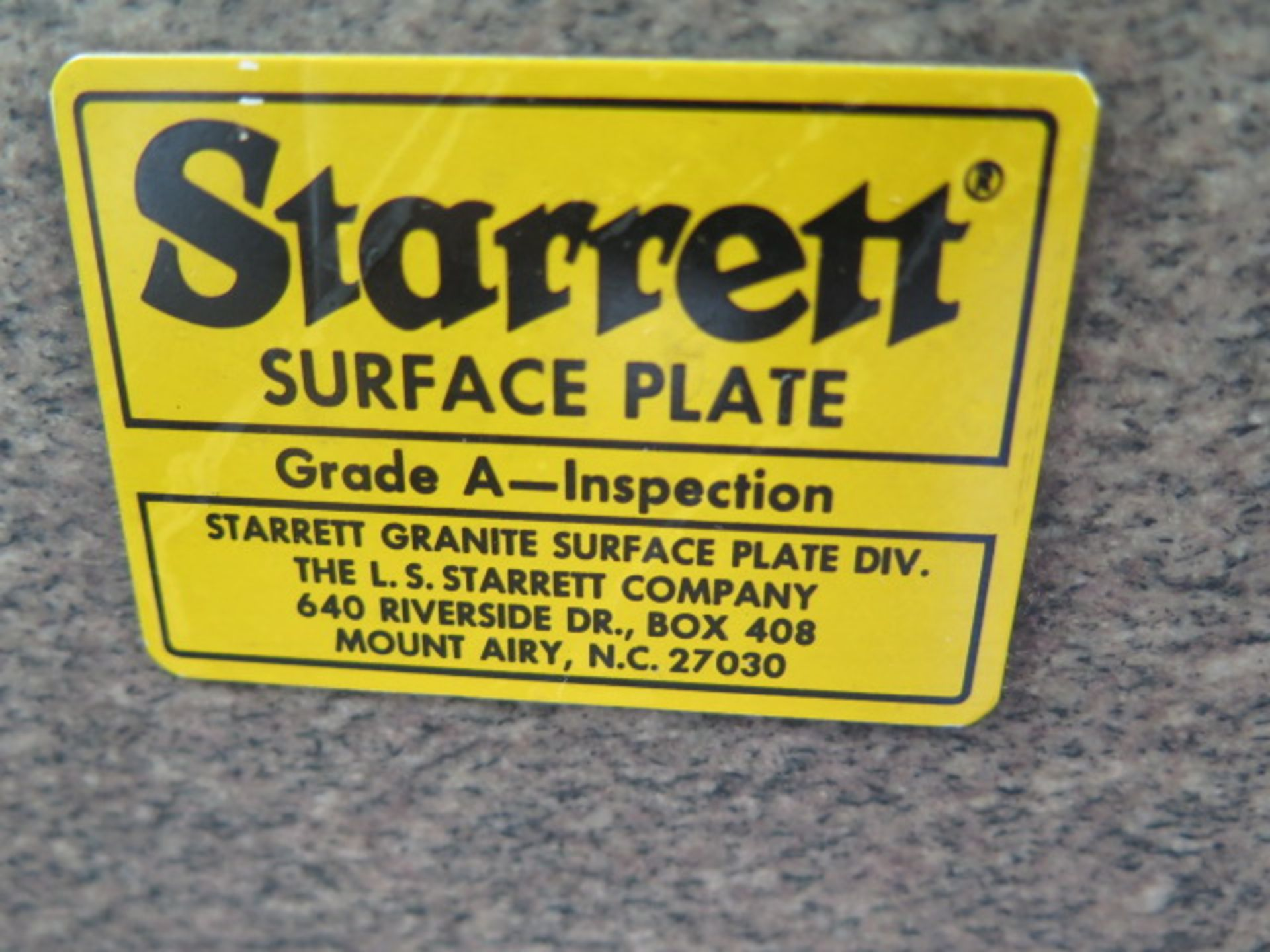 """36"""" x 60"""" x 10"""" Granite Surface Plate w/ Stand (SOLD AS-IS - NO WARRANTY) - Image 4 of 5"""
