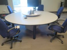 Round Conference Table w/ (6) Chairs (SOLD AS-IS - NO WARRANTY)
