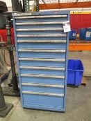 Lista 11-Drawer Tooling Cabinet w/ Drills, Taps and Misc Tooling (SOLD AS-IS - NO WARRANTY)