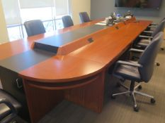 Conference Table (Call Center Style) w/ Chairs (SOLD AS-IS - NO WARRANTY)