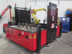 """2012 Lincoln """"System 35"""" Roboyic 2-Station CNC Welding Cell s/n E12731208 w/ Fanuc ArcMAte 100iC 6L"""