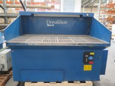 """Donaldson Torit DB3000 50"""" x 72"""" Down Draft TAble s/n 2465372-1 w/ Filtrartion and Light (SOLD AS-IS"""