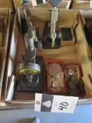 """Mitutoyo Dial Gage Stand, 0-1"""" Indicating Micrometer and 0-25mm Indicatong Micrometer (SOLD AS-"""