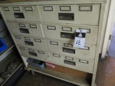 8-Drawer Rolling Storage Cabinet, Vintage Cabinet and Storage Cabinet (SOLD AS-IS - NO WARRANTY)