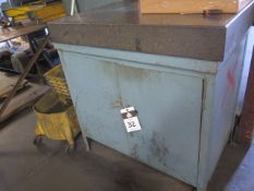 """24"""" x 36"""" x 4"""" Granite Surface Plate w/ Cabinet Base (SOLD AS-IS - NO WARRANTY)"""