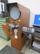 "MicroVu M14 Floor Model 14"" Optical Comparator s/n 3994 w/ MicroVu MD-1 Programmable DRO, SOLD AS IS"