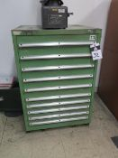 Lista 10-Drawer Tooling Cabinet (SOLD AS-IS - NO WARRANTY)
