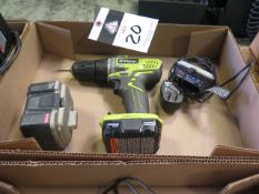Ryobi 12Volt Cordless Drill w/ Charger (SOLD AS-IS - NO WARRANTY)