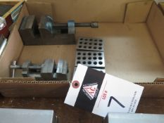 Machine Vises (2) and 1-2-3 Blocks (SOLD AS-IS - NO WARRANTY)
