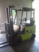 Clark 3000 Lb Cap LPG Forklift w/ 2-Stage Mast, Side Shift Solid Tires (SOLD AS-IS - NO WARRANTY)