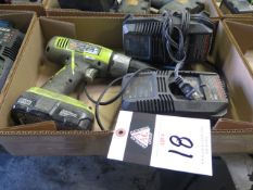 Ryobi 18Volt Cordless Drill w/ Charger (SOLD AS-IS - NO WARRANTY)