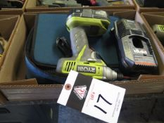 Ryobi 18Volt Cordless Nut Driver w/ Charger (SOLD AS-IS - NO WARRANTY)