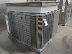 Johnson B6HZ036A25 3 Ton Heat Pump s/n W1M3235628 208/230V-3PH w/ Curb Base (SOLD AS-IS - NO