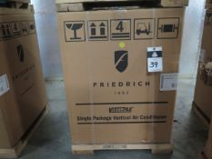 Friedrich VHA12K25RTN Hotel Style 1 Ton Single Package Vertical Air Conditioner s/n AFKN01881 w/ 9,