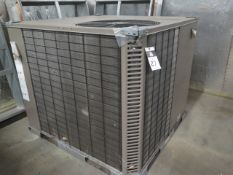 Johnson B6HZ042A25 3.5 Ton Central Heat Pump s/n W1H4011181 208/230V-3PH w/ Curb Base (SOLD AS-