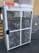 Propane Storage Cage w/9 Tanks (SOLD AS-IS - NO WARRANTY)