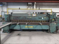 """Wysong mdl. 1038 3/8"""" Cap x 10' Power Shear s/n P31-149 w/ Power Back gauge, 107"""" Sq Arm, SOLD AS S"""