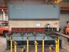 """TruFAb LVR-1075 3/4"""" Cap x 10' Hydraulic Power Shear s/n HSS22-100 w/ Power Back Gauge, SOLD AS IS"""